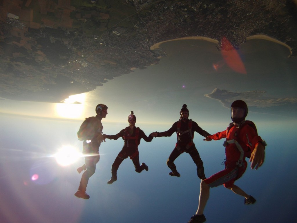 Saut Freefly Headdown
