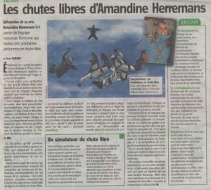 Les chutes libres d'Amandine Herremans
